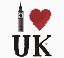 I Heart UK (remix) Kids Tee