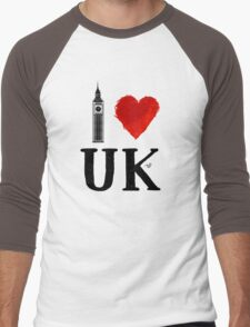 I Heart UK (remix) Men's Baseball ¾ T-Shirt