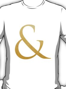 GOLD FOIL AMPERSAND T-Shirt