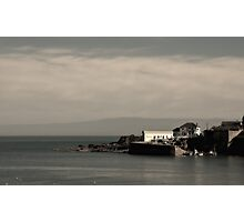 The Old Lifeboat House & Harbour at Coverack in Cornwall - Feb 2015 edit Photographic Print