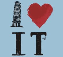 I Heart Italy (remix) Kids Tee