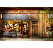 Towne Barber Shoppe Photographic Print