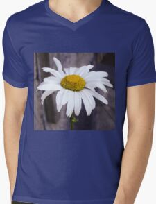 Big Chamomile Mens V-Neck T-Shirt