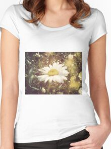 Big Chamomile Retro effect Women's Fitted Scoop T-Shirt