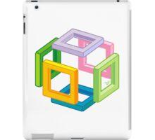 Expanding Necker Cube by Tai's Tees iPad Case/Skin