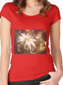 Big Chamomile Retro effect 2 Women's Fitted Scoop T-Shirt
