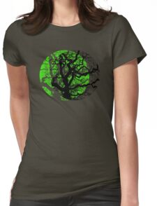 MOON TREE Womens Fitted T-Shirt
