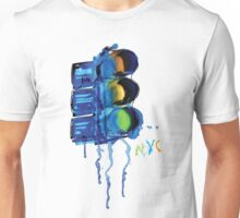 NYC Painted Traffic Light Unisex T-Shirt