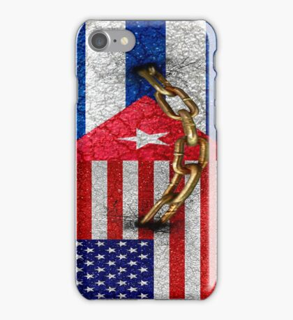 United States and Cuba Flags United Design iPhone Case/Skin