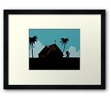 Kame House Framed Print