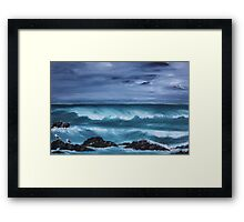 Stormy Sea, Grootjongensfontein, South Africa Framed Print