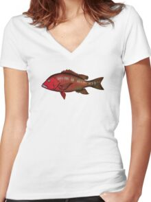RED SNAPER Women's Fitted V-Neck T-Shirt