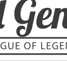 Vintage Evil Genius Sticker