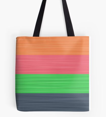 Brush Stroke Stripes: Peach, Rose, Spring Green and Steel Blue Tote Bag