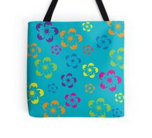Flower Power - Blue Tote Bag