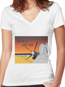 Shorts 360 Women's Fitted V-Neck T-Shirt