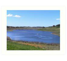 Dam or Duck Pond? Art Print