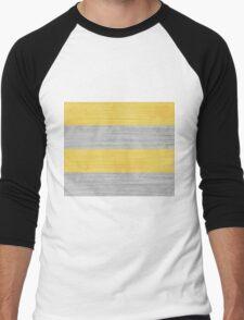 Brush Stroke Stripes: Silver and Gold Men's Baseball ¾ T-Shirt