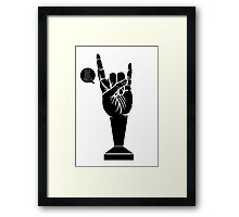 All Black Rock 'n Roll Barista Framed Print