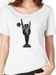 All Black Rock 'n Roll Barista Women's Relaxed Fit T-Shirt