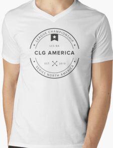 Vintage CLG America Dark Mens V-Neck T-Shirt