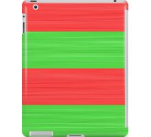 Brush Stroke Stripes: Red and Green iPad Case/Skin
