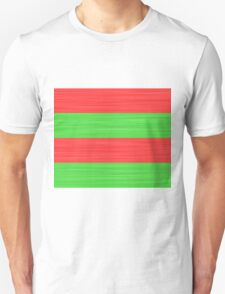 Brush Stroke Stripes: Red and Green Unisex T-Shirt