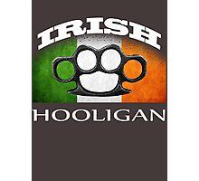 irish hooligan flag brass knuckles Photographic Print