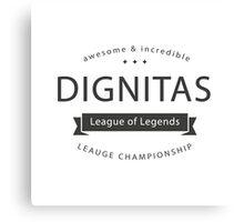Vintage Dignitas  Canvas Print