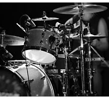 Drums in Black & White Photographic Print