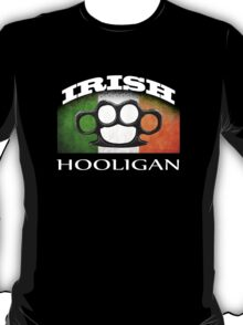 irish hooligan flag brass knuckles T-Shirt
