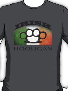 irish hooligan flag brass knuckles T-Shirt