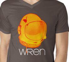 Wren - Space Helmet White Lettering Mens V-Neck T-Shirt