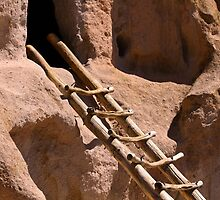 Bandelier National Monument Ancient Pueblo Ladder by Catherine Sherman
