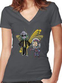 SpaceKid and Space Rock Singing Sensation Quartz Supremo Women's Fitted V-Neck T-Shirt