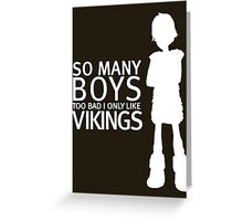 HTTYD - Viking (White Print) Greeting Card