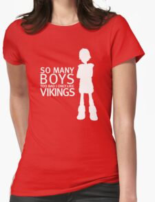 HTTYD - Viking (White Print) Womens Fitted T-Shirt