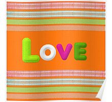 colourful love  Poster
