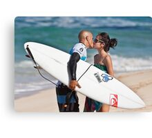 Kelly Slater and Kalani Miller Canvas Print