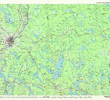 Maine USGS Historical Map Bangor 807769 1985 100000 by wetdryvac