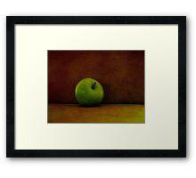 A Green Apple Framed Print