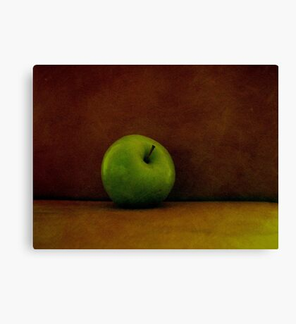 A Green Apple Canvas Print