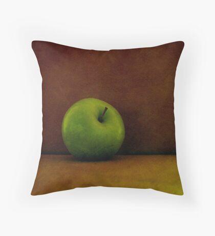 A Green Apple Throw Pillow