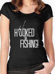 Hooked on Fishing Women's Fitted Scoop T-Shirt