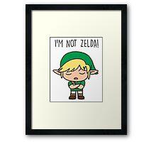I'm not Zelda! Framed Print