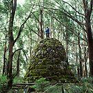 Mount Juliet Cairn, Yarra Ranges, Victoria. by Ern Mainka