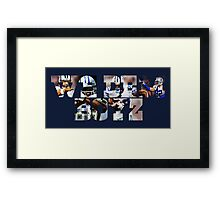 Dallas Cowboys Offense - We Dem Boyz Framed Print