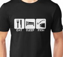 Eat, Sleep, Fish Unisex T-Shirt