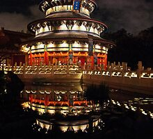 China Pavillion Epcot   by John  Kapusta