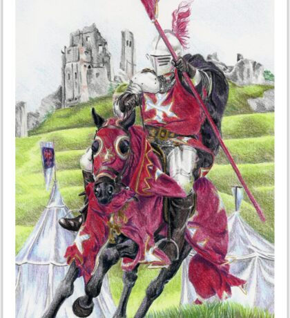 The Tournament Knight Sticker
